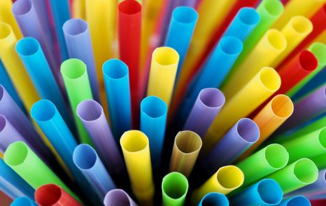 Many tubes or straws for the sale of cold drinks.