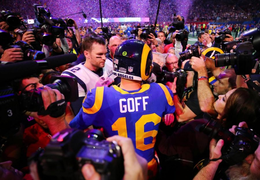 Goff and Brady after game (Image from CNN)