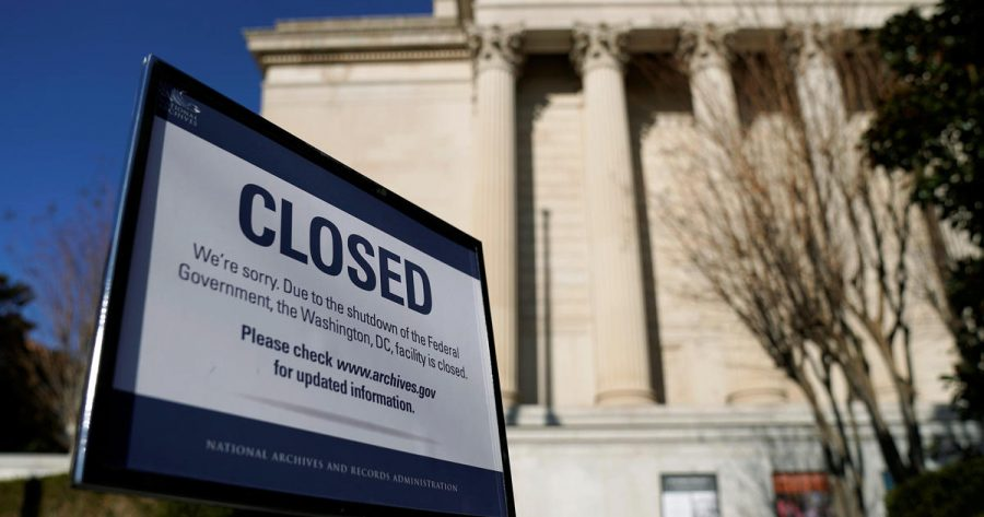 Closing of all government functions (image from CBS News)