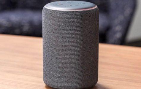 The Amazon Echo in gray